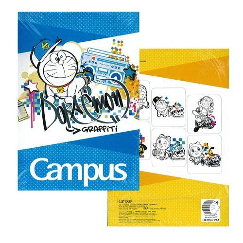 Vở kẻ ngang Campus Doraemon Graffiti