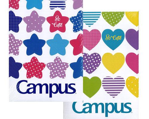 Vở kẻ ngang Campus So Cute Kích thước: 179x252 (+- 2mm) Định lượng: 58-65g/m2