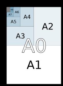 Kích thước khổ giấy A0, A1, A2, A3, A4, A5, A6, A7