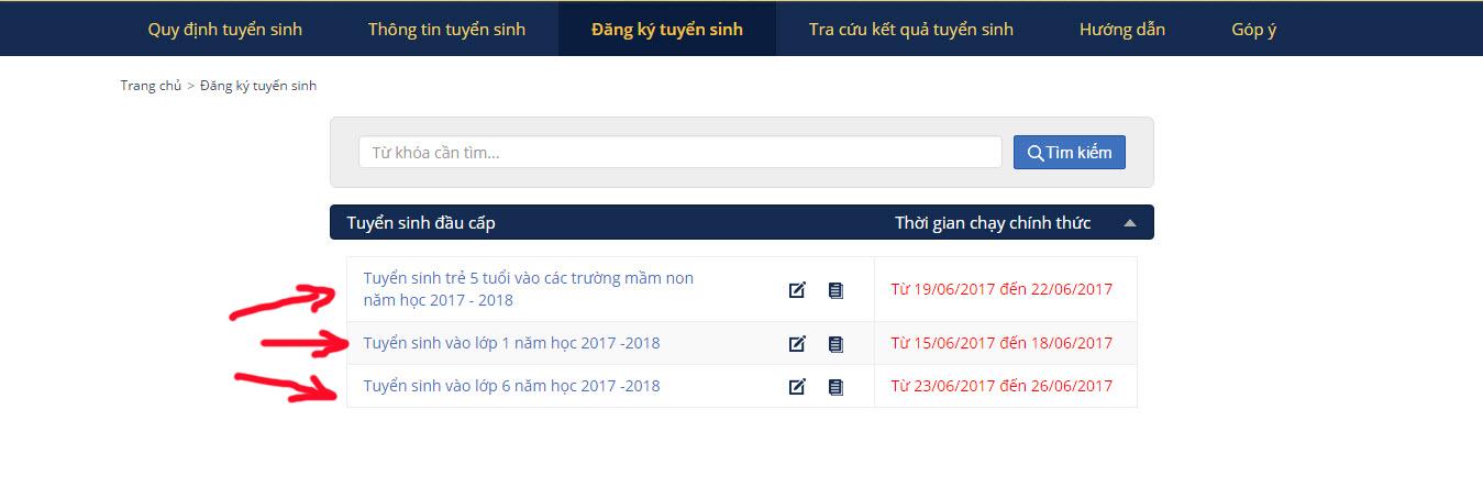 Bước 2 chọn mục đăng ký