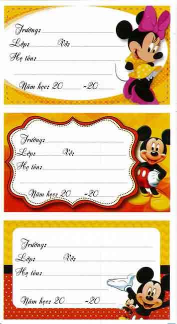 Mẫu chuột Mickey